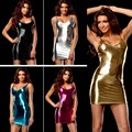 New 9 color sexy lingerie hot women Imitation leather skirt teddy Club sexy costume erotic underwear sexy slim lingerie dress