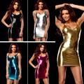 Nueva 9 colores de la lencería sexy caliente de las mujeres de Imitación de cuero falda Del Club de peluche sexy traje de la ropa interior erótica atractiva delgada vestido de la ropa interior