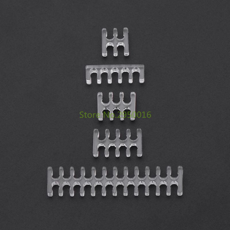 1pc Transparent Acrylic Cable Comb Clear Dresser For 2 Mm Cables 4/5/6/8/24 Pin PC Sleeving Cables C26