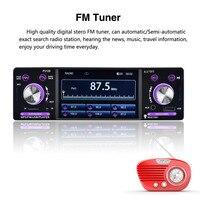 4 1 Car Stereo 1 Din FM Aux Input Receiver P5128 Car Radio Autoradio 12V Bluetooth