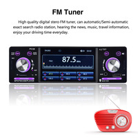 4 1 Car Stereo 1 Din FM Aux Input Receiver P5128 Car Radio Autoradio 12V Bluetooth