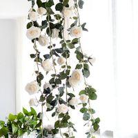 1,8 м Шелковый цветок розы Вайн высокое качество искусственного Декоративные розы из ротанга свадебные украшения предпосылки