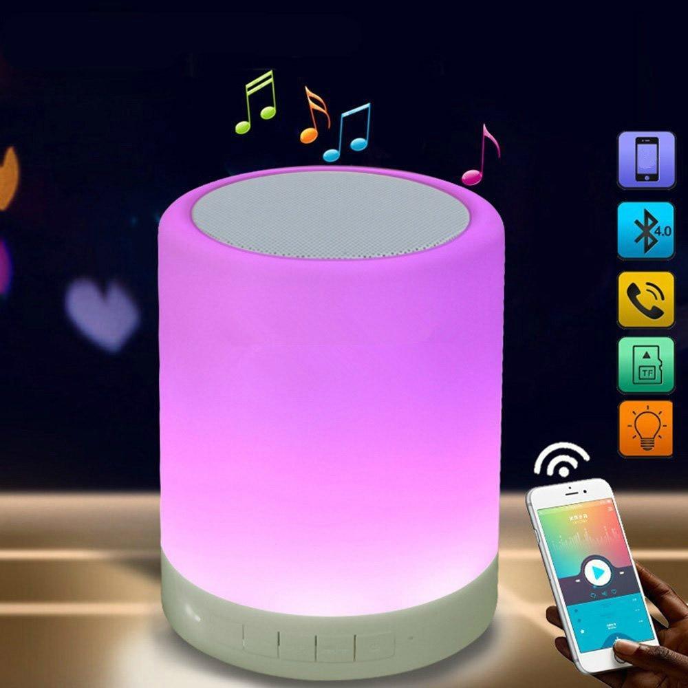 Best Bluetooth Speaker LED Colorful Mini Touch Control Mini Speaker Box Column Portable Outdoor Sound Box Soundbar For Xiaomi