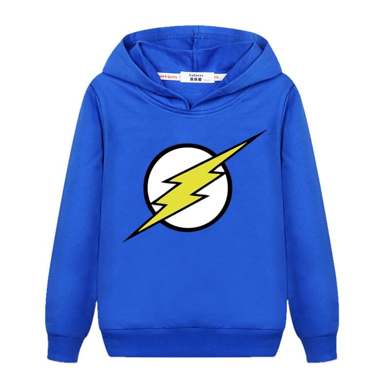 The Flash Star Red Color Kids Sweatshirt Boys Novelty Comic Super Hero Pullover Sweatshirt 2021 Children Clothes Arrow Friend 4