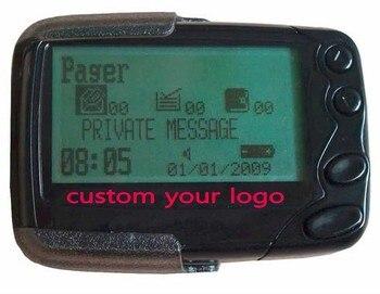 50 piezas logotipo personalizado portátil Alphanumberic localizador inalámbrico de llamada de emergencia texto receptor Poscag llamando al sistema de pager enfermera Zumbador
