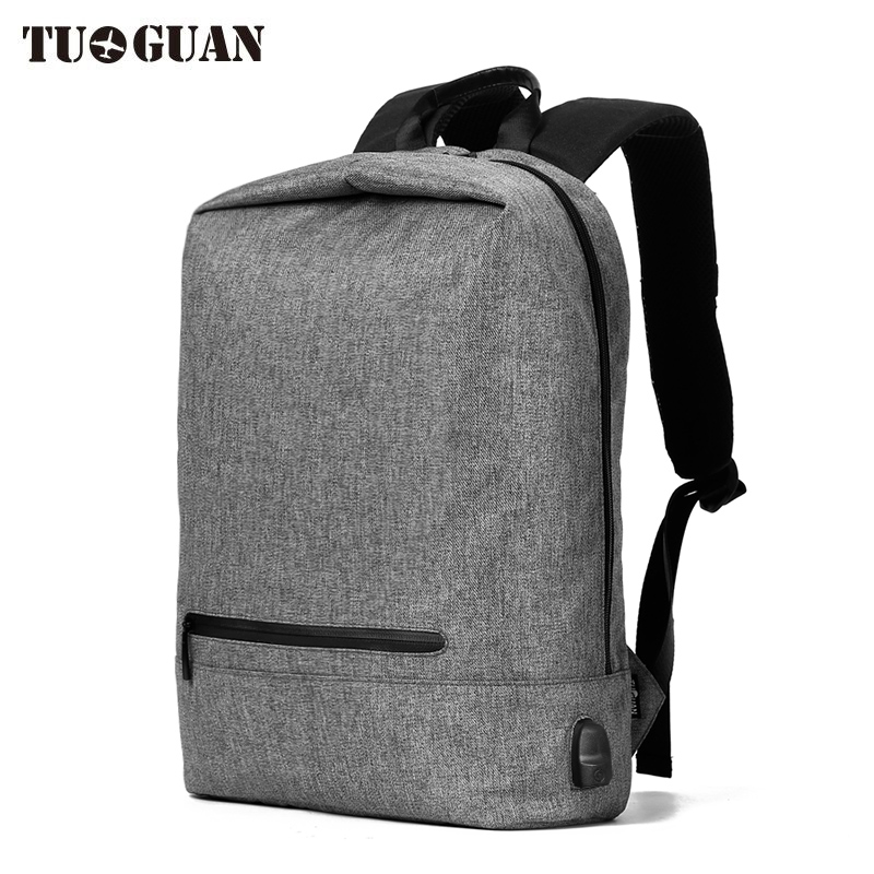 TUGUAN Waterproof Oxford Men Laptop Backback School Bags For Boys Casual Travel Large Capacity USB Charge Anti theft Backpacks ozuko men backpacks new design waterproof anti theft usb charge large travel bag 15 6 laptop backpack school bags for teenagers