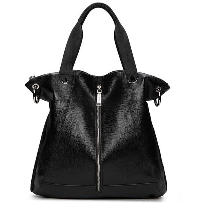 Genuine Leather Women Handbag Leather Tote Fashion Casual Bag Shoulder Bags Women Messenger Bag Crossbody Bolsas Large Space Bag weave genuine leather womens handbag hot handmade fashion black shoulder bag messenger crossbody bags large casual totes