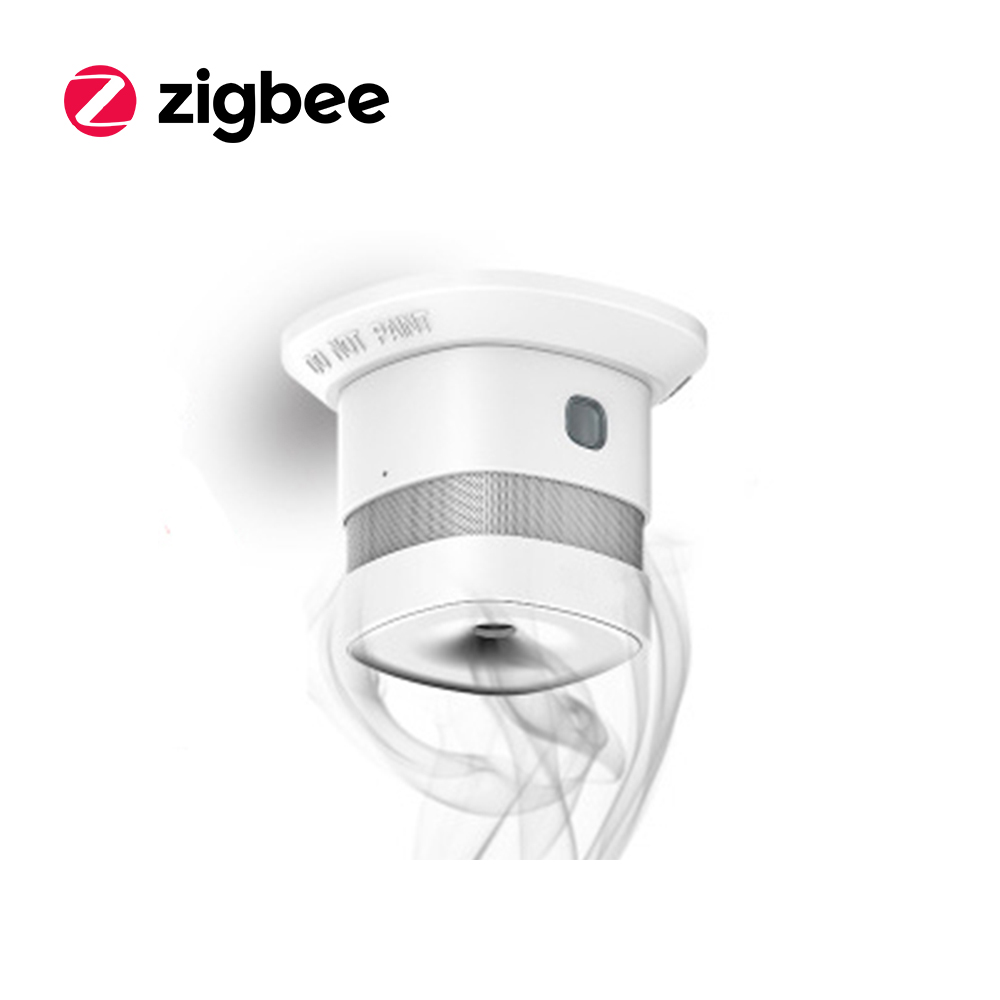 CE/RoHS Certified Zigbee Network Fire Alert Smart Smoke Alarm Detector/Sensor wireless zigbee smart anti fire alarm smoke sensor smart home sensors