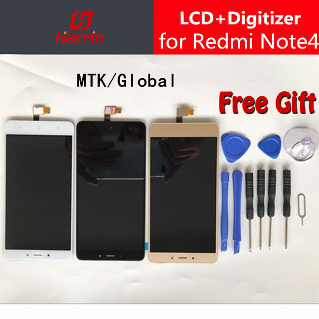 Hacrin Xiaomi Redmi Note 4 LCD Display Touch Screen Digitizer Assembly Replacement For Redmi Note 4 Pro Prime Global Version