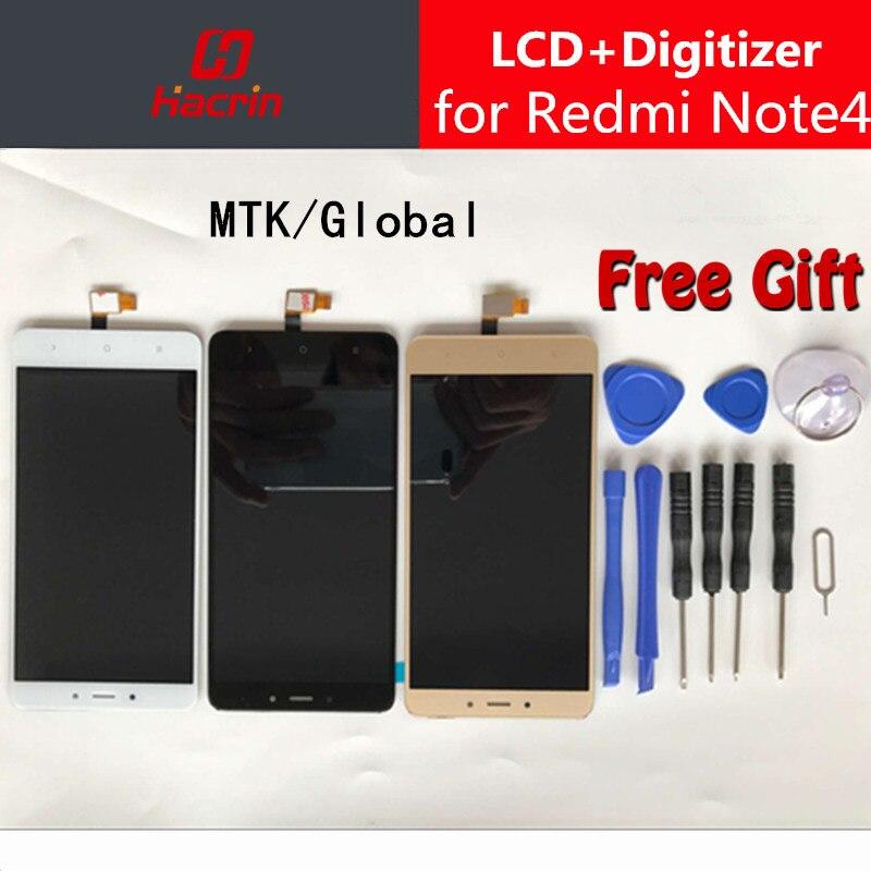 Xiaomi Redmi Nota 4 LCD Display Touch Screen Digitizer Assembly di Ricambio Per Redmi Note 4 Pro Prime Versione Globale