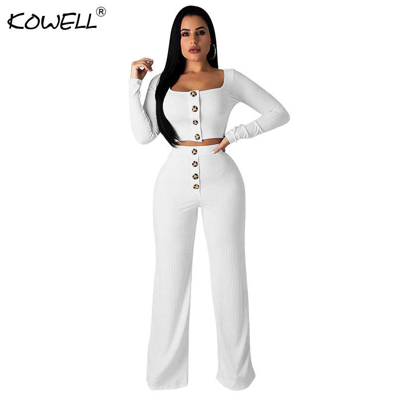 21d4061d4e9 Hot Sale Knit Jumpsuits For Women Long Sleeve Wide Leg Pants Two Piece  Rompers Autumn Streetwear