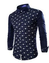 Men's Shirts 2017 Fashion Mens Shirt Long Sleeve Men's Clothing Casual Dress Shirts Solid High Quality Male Fit Formal Shirt 37