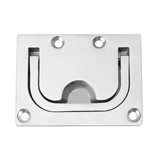 Yacht Deck Cover Handle Floor Buckle Boat Hardware With Screws Corrosion Resistant Stainless Steel Durable Hatch Pull Lifting