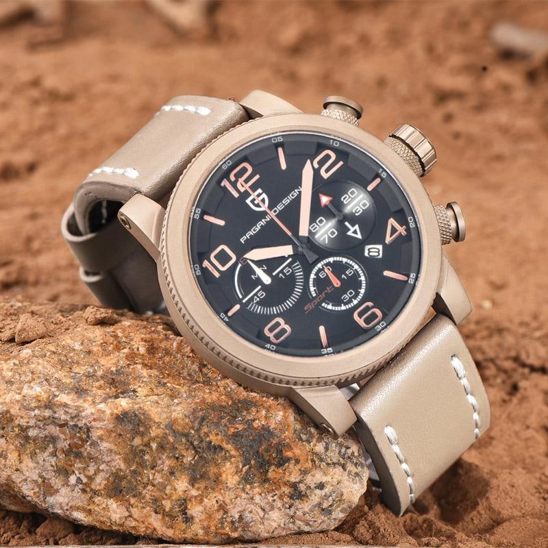 PAGANI DESIGN Brand Men Watch Fashion Quartz Wristwatch Chronograph Calendar Male Clock Waterproof Relogio Masculino Hodinky 46 все цены