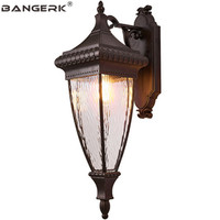 American Outdoor Balcony Wall Lamp Vintage Waterproof LED Porch Lights Wall Sconce Lighting Fixtures Garden Aisle Luminaire