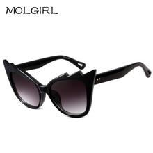 New Trend of Fashion Sunglass Feather Shaped Big Frame Sunglasses Brand Design Sun Glasses Oculos De Sol Gafas