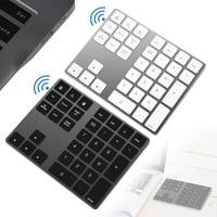 Bluetooth Number Pad Keyboard Numeric Mini 34 Keys Aluminum Alloy for iOS Android DJA99