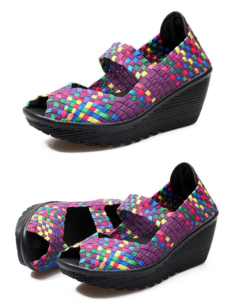Beckywalk verão sandálias de plataforma feminina sapatos