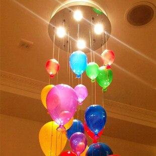 Модная современная светодиодная детская спальня красочная подвеска в виде шара светильник разноцветный стеклянный шар для столовой лестничный светильник - 2