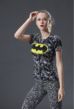 HOT WOMEN T-SHIRT BODYS ARMOUR MARVEL CAPTAIN AMERICA /batman COMPRESSION T SHIRT GIRL UNDER FITNESS TIGHTS TOPS CLOTHING