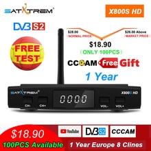Satellite TV Receiver decoder X800S HD DVB-S2+USB Wfi Recept