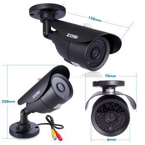 Image 2 - ZOSI HD 960H 1000TVL CMOS 42 pièces IR Leds haute résolution jour/nuit étanche caméra de vidéosurveillance intérieure/extérieure avec support