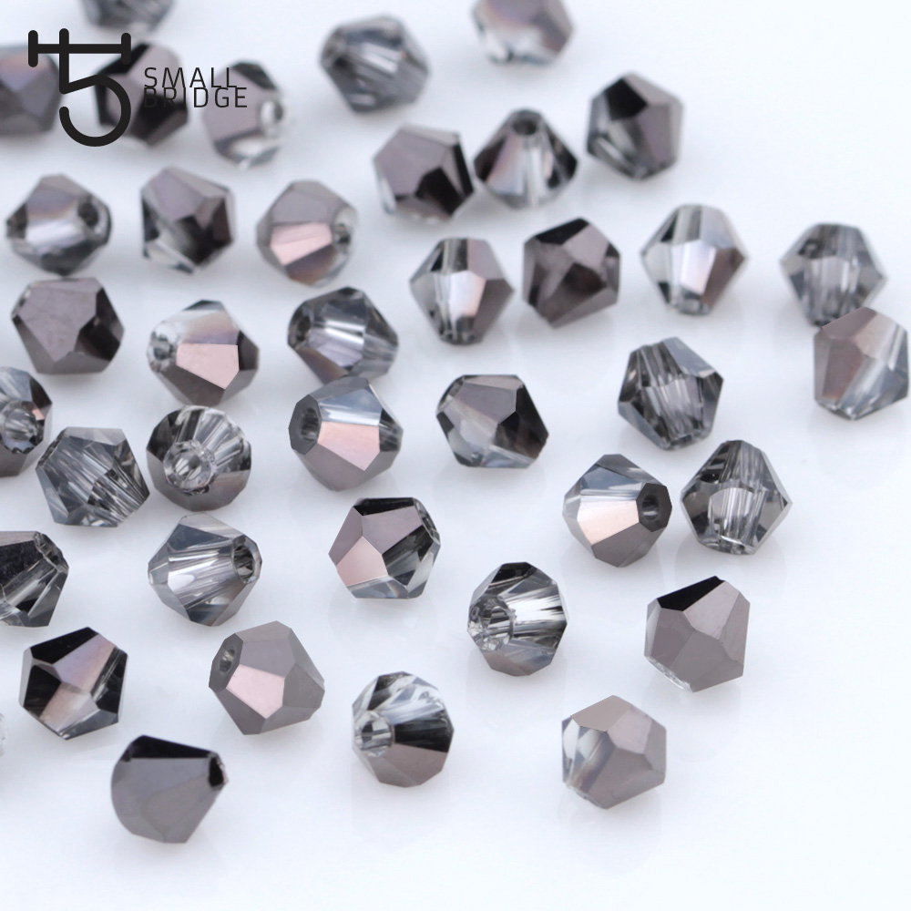 30Pcs DIY 6X8mm Glass Crystal Cylinder Spacer Loose Beads Jewelry Making IM05