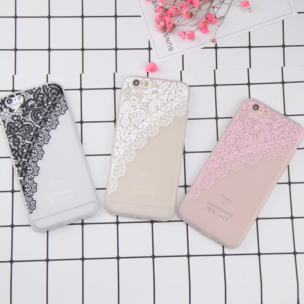 For iPhone 6 Case Luxury Curtains flowers Phone Case for iPhone 7 Case DILLON GUAN Lace  ...