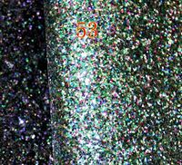 53 Colorful Synthetic Chunky PVC Glitter Leatherette Artificial Faux Leather Fabric Material