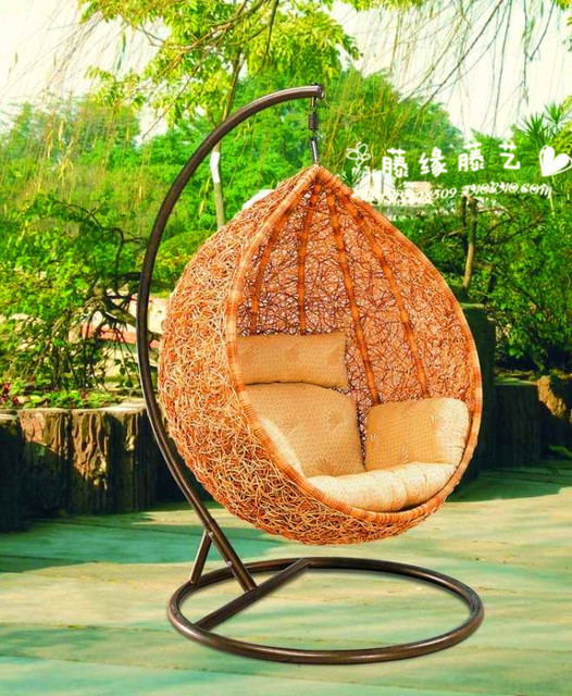 Outdoor wicker chairs rocking chair recliner swing hanging baskets rattan balcony hospitality oval teardrop-shaped & Outdoor wicker chairs rocking chair recliner swing hanging baskets ...