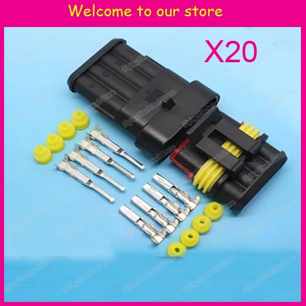 aliexpress com buy 20sets 4p auto waterproof automotive wire rh aliexpress com auto wiring connector plugs auto wiring connectors parts