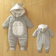 Комбинезон толщиной зимняя одежда для мальчика и девочка в зимний новорожденных ползунки с длинными рукавами хлопок одежды из