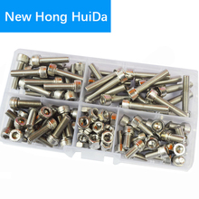 Hex Socket Head Cap Screw Metric Thread Hexagon Allen Head Bolt Nut Set Assortment Kit Box 110Pcs,304 Stainless Steel M5 xkai 1 2 8 32mm socket wrench head metric socket set socket end kit bolt hexagon allen head torque wrench sleeve head