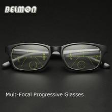 TR90 Belmon Multi-Focal Progressiva Óculos De Leitura Mulheres Homens Óculos  Para Presbiopia Óculos De Dioptria + 1.0 + 1.5 + 2. 00b59e1c3a