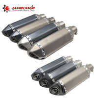 Alconstar 51mm Universal Akrapovic Exhaust Motorcycle Escape Moto Modified For Dirt Pit Bike GY6 Scooter Yoshimura Muffler