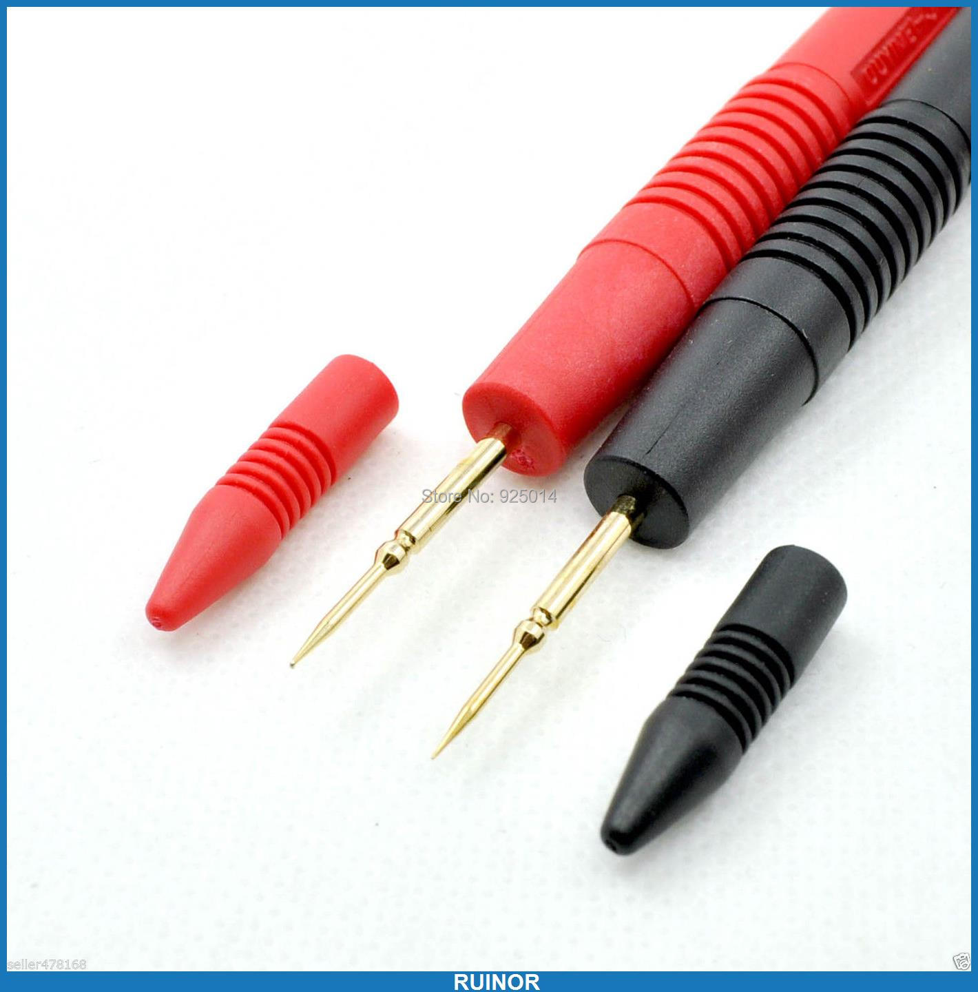 1 pair Needle PCB IC SMT SMD Multimeter pen for Test Probes Cables 4MM BANANA plug areyourshop sale 50pcs 5color 2mm gold banana male plug audio adapters for instrument test probes m