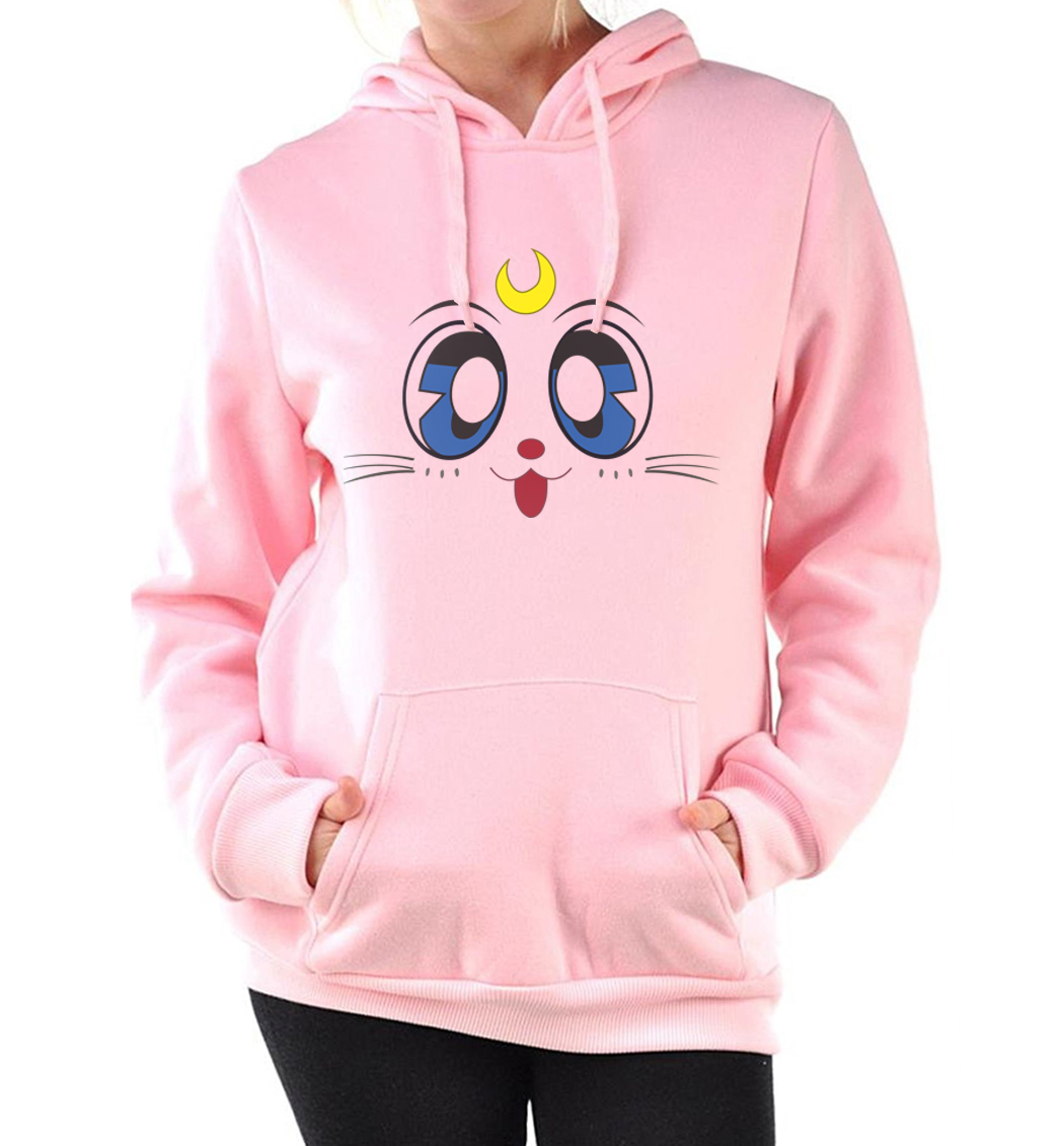 women hot top for lady role-playing hoodies 2019 new arrival funny kawaii sweatshirt casual fleece pink tracksuit femme hooded