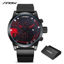 2019 Metal Wire Top Brand Multifunction Full Steel Quartz Clock Sinobi Racing Sport Men Chronograph Watch Male Relogio Masculino