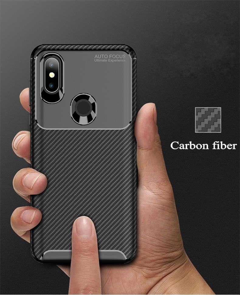 Case For Xiaomi Mi 9 Mi 8 Pro Mi 8SE Mi 8 Lite Cover Carbon Fiber Silicone TPU Case For Xiaomi Pocophone F1 Poco F1 Cover Fundas (5)