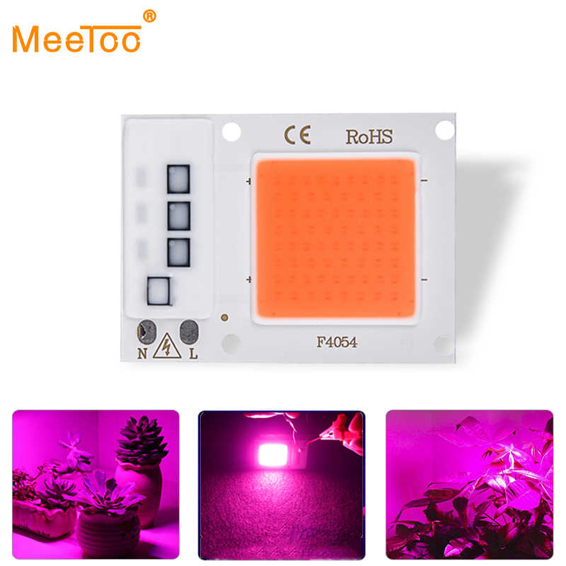 LED COB Chip Grow Plant Light Full Spectrum Input 220V 110V AC Real 10W 20W 30W Indoor Grow Lamp For Plants Seeds Grow Tent Box