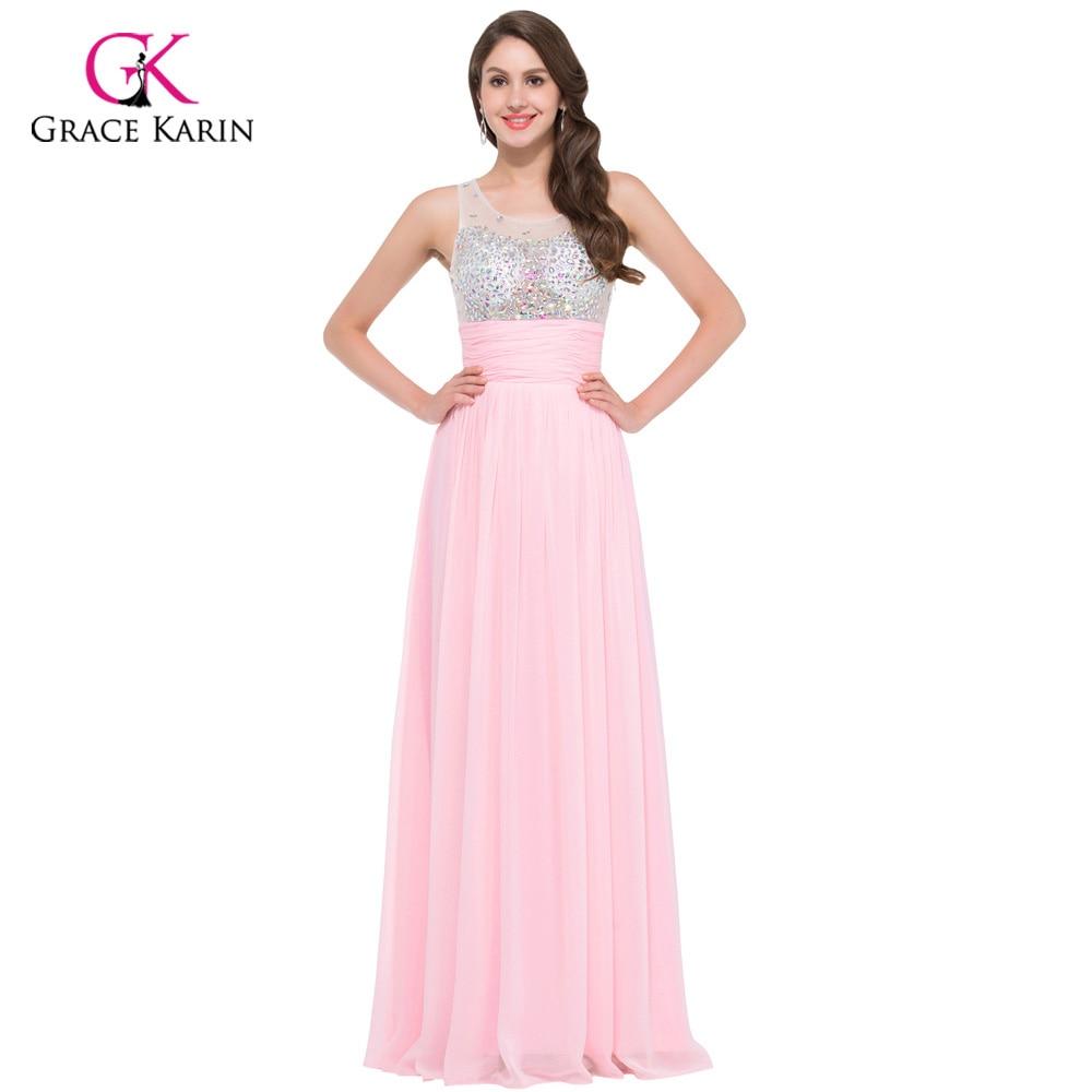 Women Pretty Long Evening Dresses 2018 Grace Karin Pink Blue Green ...