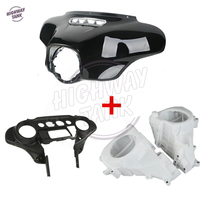 Black Motorcycle Batwing Inner & Outer Fairing With Speakers Cover case for Harley Ultra Limited Tri Glide 2014 2015 2016 2017