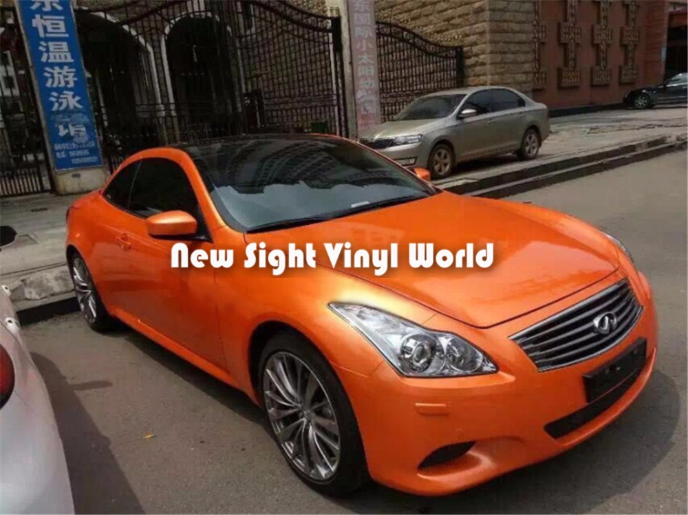 Kualitas Tinggi Glossy Candy Orange Vinyl Wrap Roll Stiker