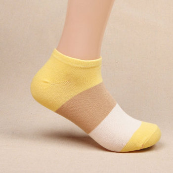 200Pair Summer  women  Stripe Cotton  Slippers Short socks Harajuku Funny Socks meias Gift