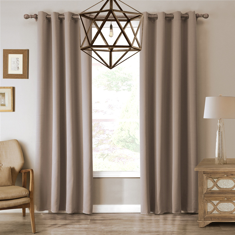 XYZLS Brand New High Quality European Coffee Curtains Shade Blackout Curtain Drapes cotinas For Bedroom Living Room Cafe Decor