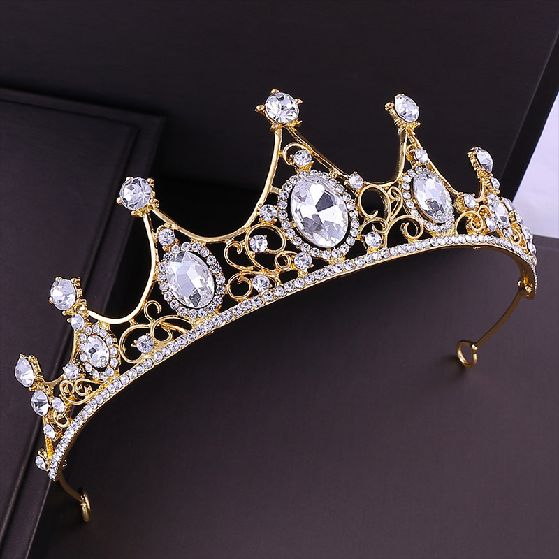 Luxury Alloy Crystal Women Girls Tiaras and Crowns Headpiece Pageant Wedding Hair Piece Hair Accessories Bridal Head Jewelry LB