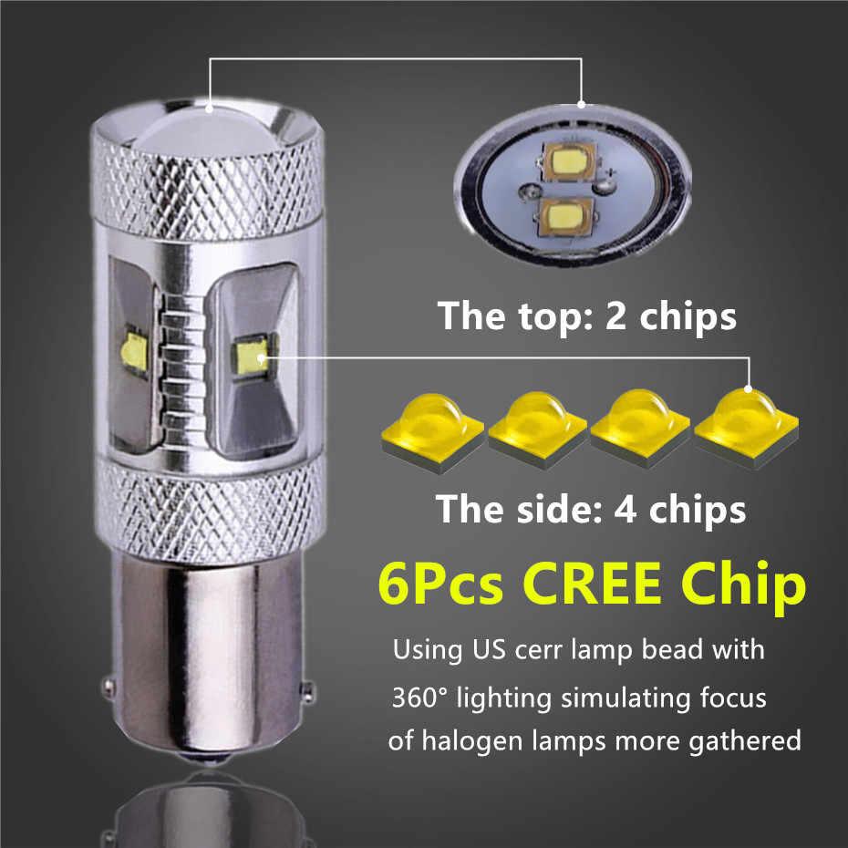 2Pcs 1156 BA15S LED Bulbs Auto Fog Tail Turn Cree Led Chip S25 P21W Light R5W Lamp parking Reserve Lights car light source B243