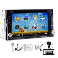 Автомобиль GPS dvd плеер Радио стерео 6.2 2 DIN в тире мультимедиа touch BT Ipod ТВ USB FM AM видео PC SD навигации бесплатная Географические карты ПК