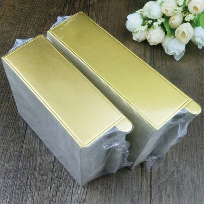 100pcs Rectangle Mousse Cake Boards Gold Paper Cupcake Dessert Displays Tray Wedding Birthday Cake Pastry Decorative Tools Kit