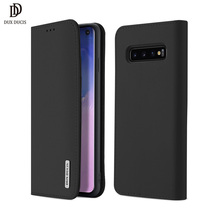 Dux Ducis Genuine Leather Wallet Case For Samsung Galaxy S10 Magnetic Flip Cover S9 Plus S10e Phone Bags